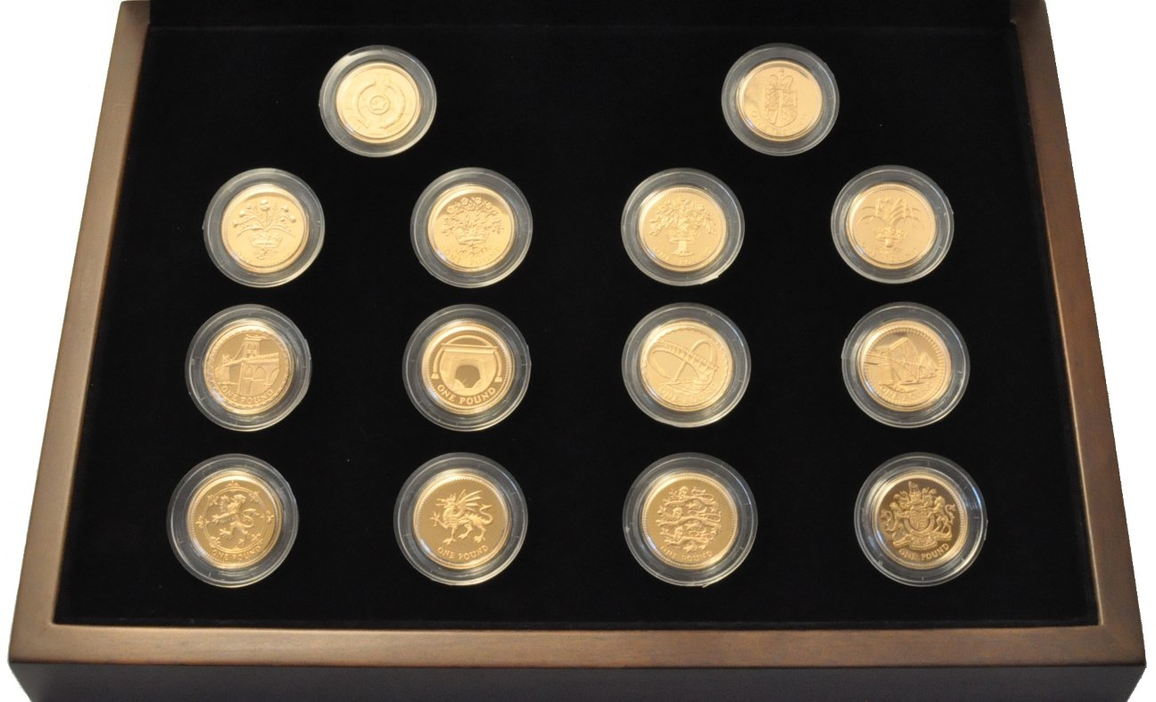 One Pound Coin 25th Anniversary Gold Proof Collection