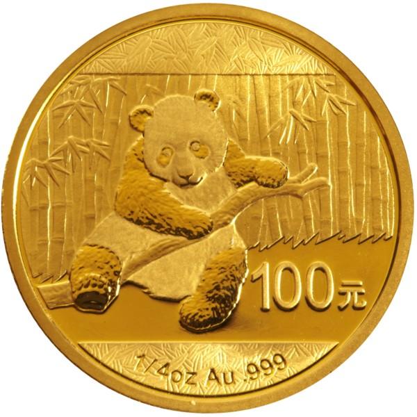 2014 1 4 Oz Gold Chinese Panda Coin 394