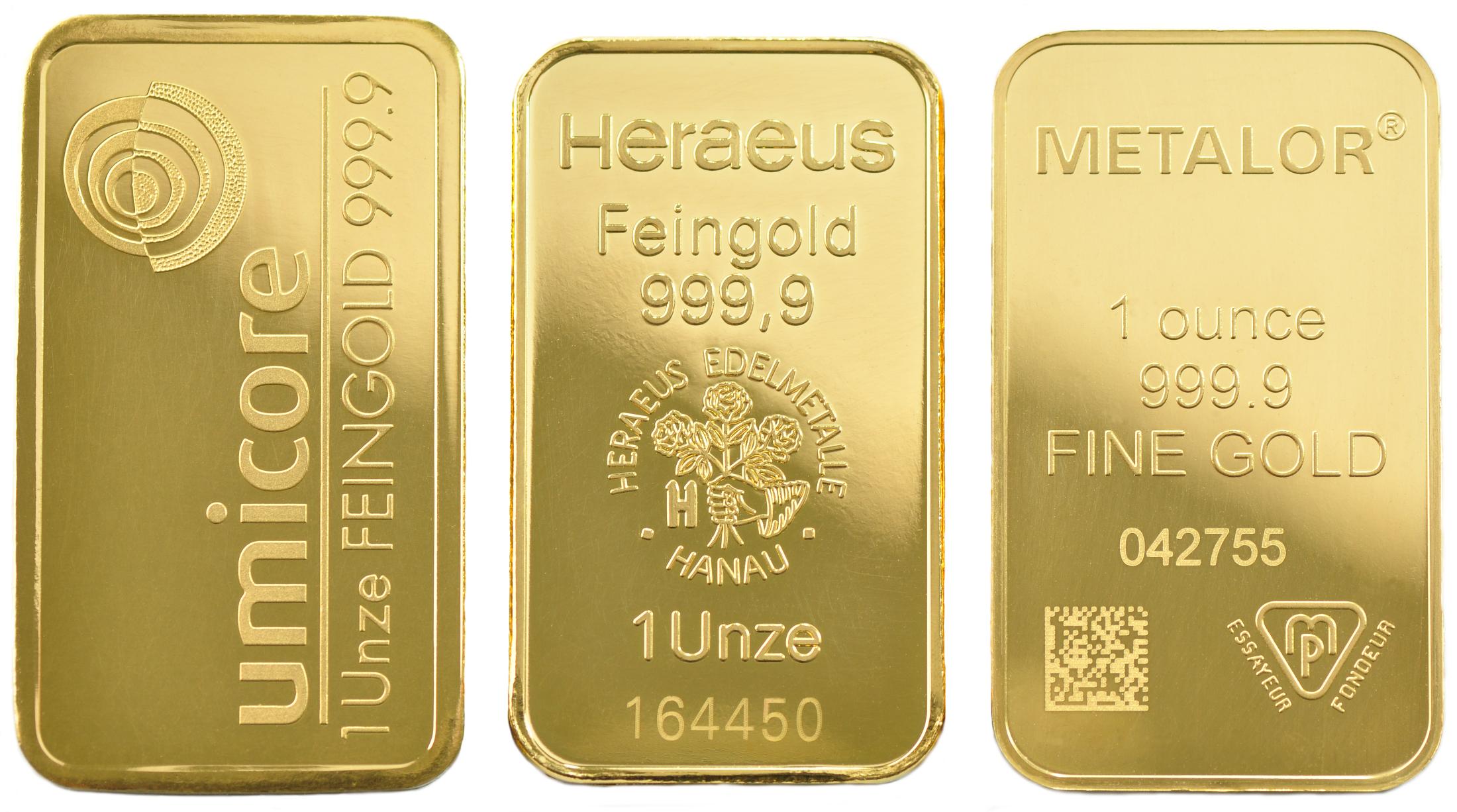 1oz Gold Bars Best Value Bullionbypost From 1 362