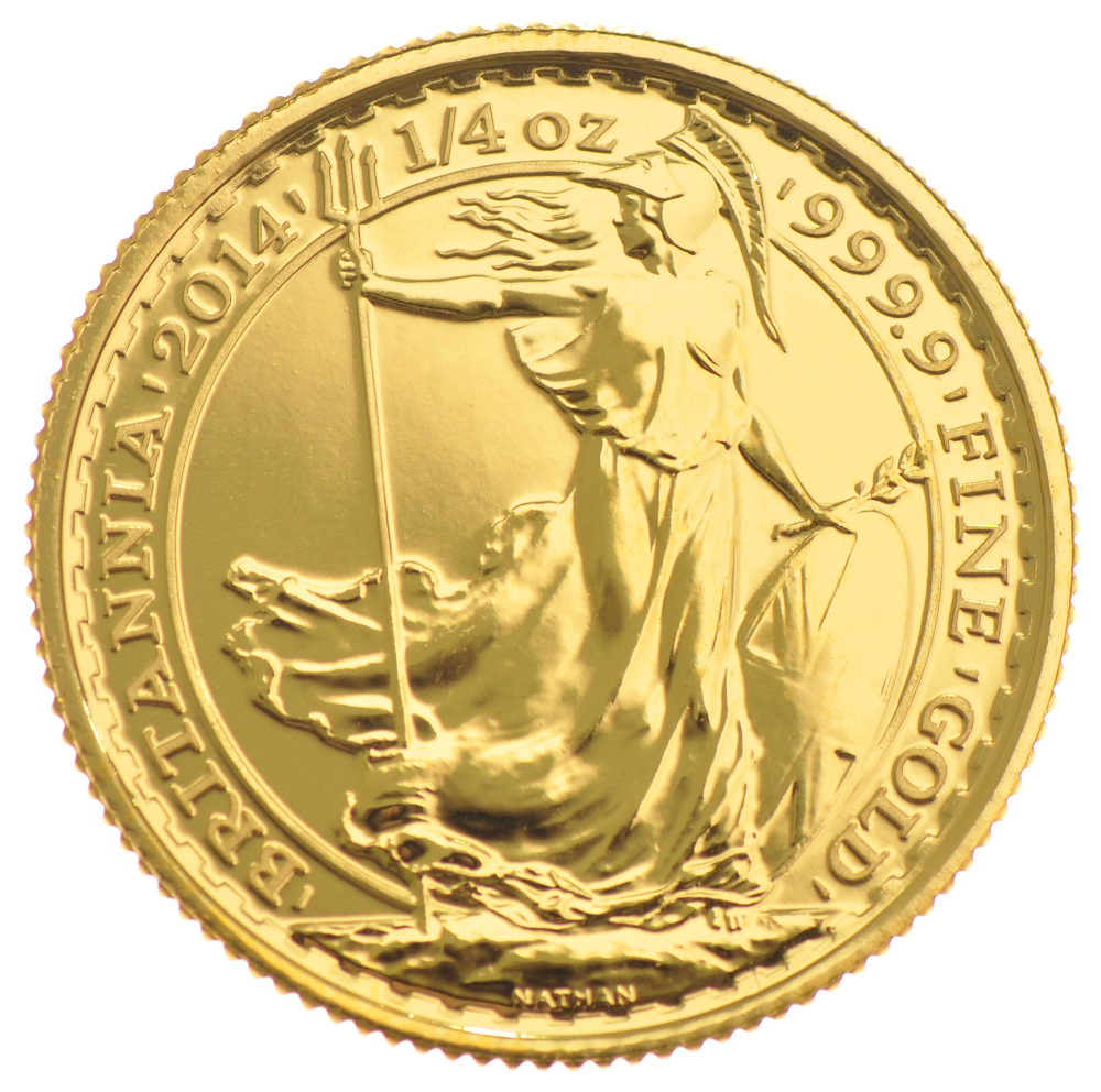 2014 Quarter Ounce Britannia Gold Coins 397