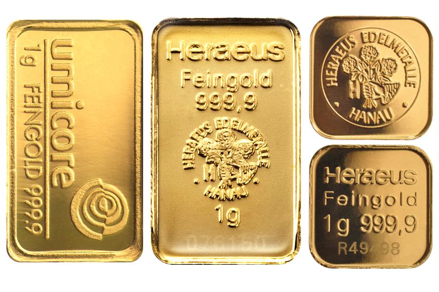 Buy 1g Gold Bar Best Value Bullionbypost From 54