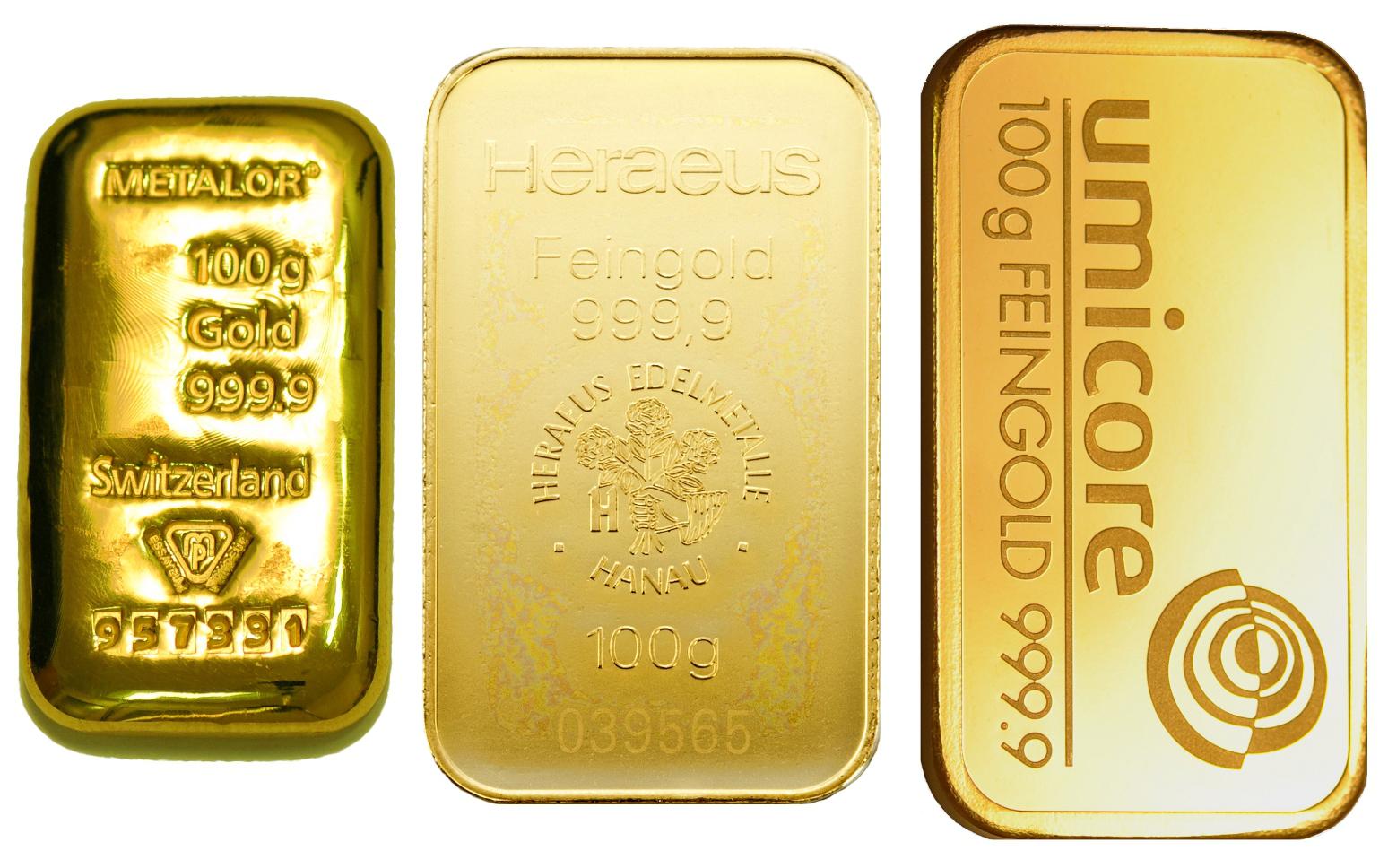 100g Gold Bars Best Value