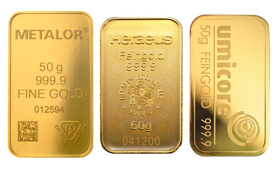 50g Gold Bars Best Value