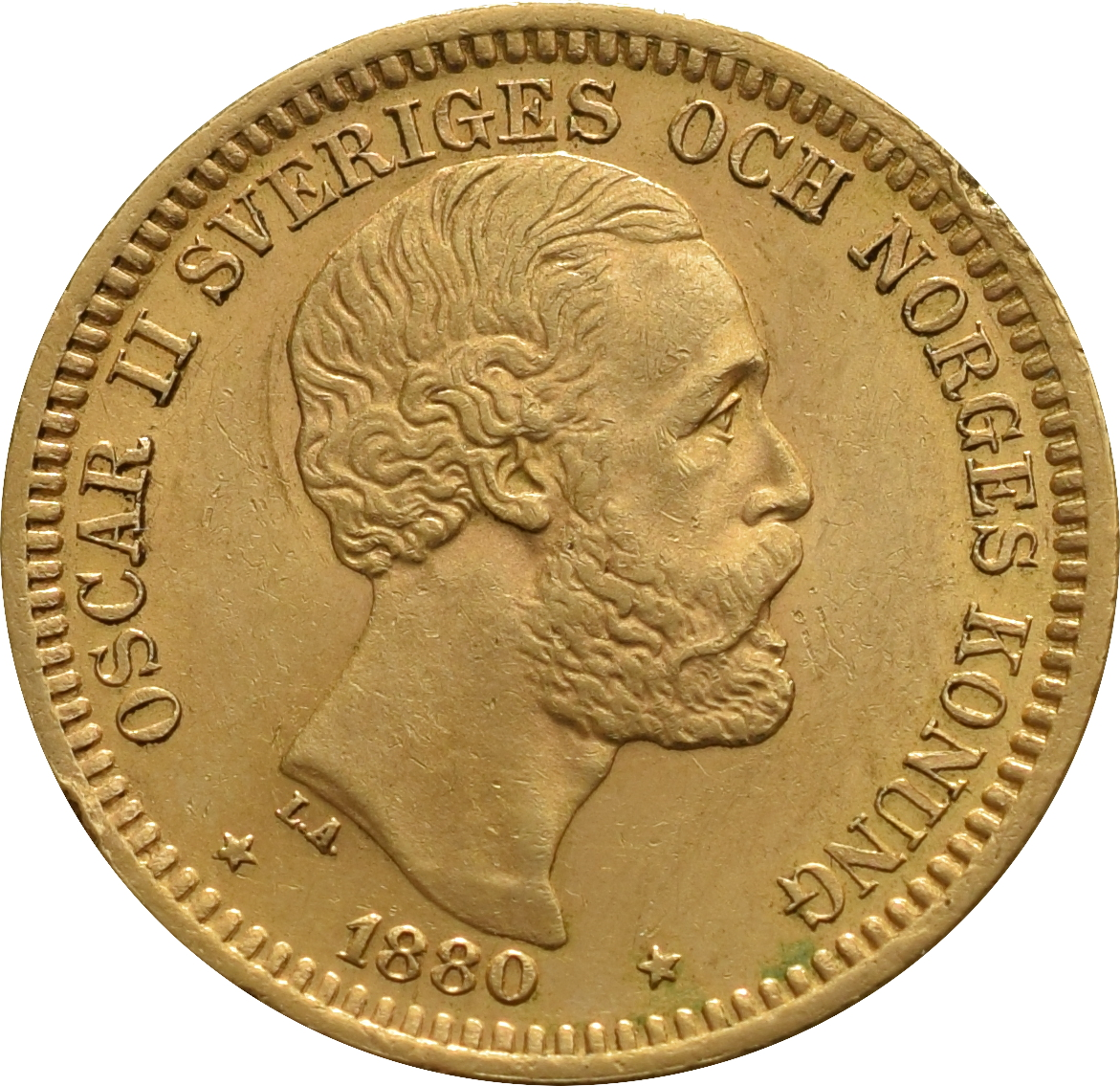 20 Kronor Swedish gold coin, from Bullion by Post, the UK ...