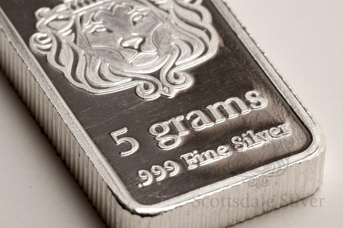 Buy Scottsdale 5g Silver Bar Bullionbypost 174 From 11 63