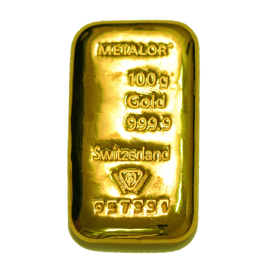 Metalor 100g Gold Bars Bullionbypost From 4 087