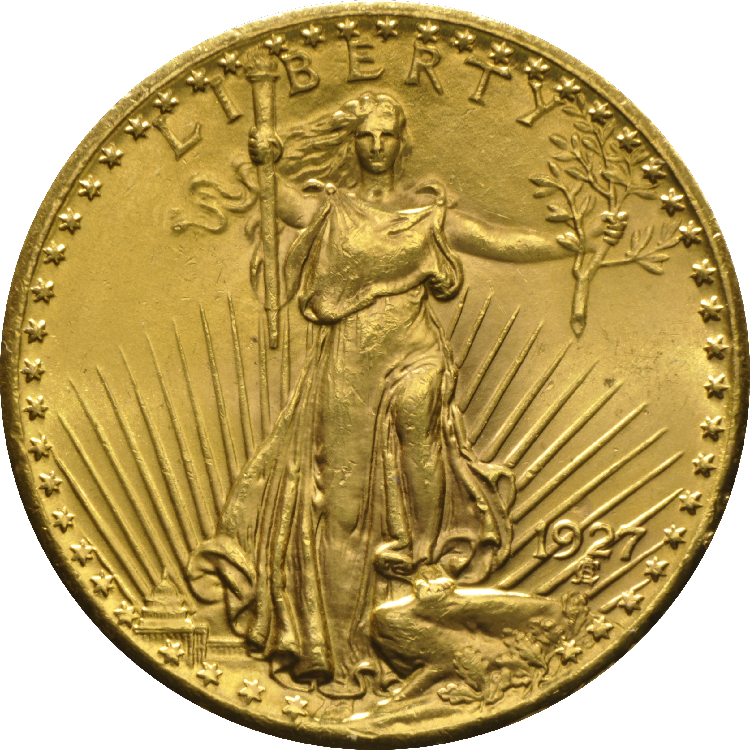 1927 20 Double Eagle St Gaudens Gold Coin From 1 580