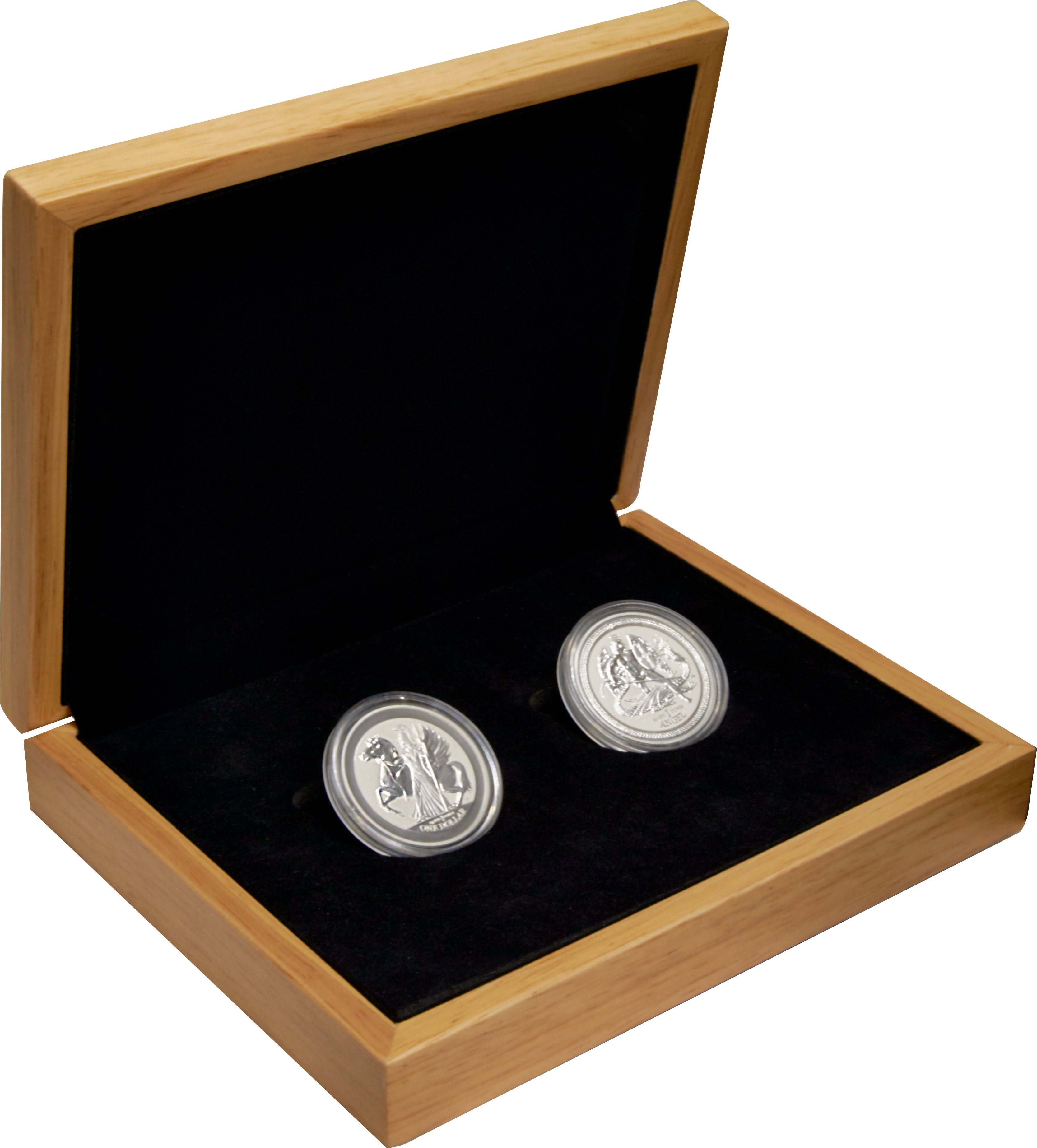 Perth Mint Collection Set Monkey And Rooster Half Ounce