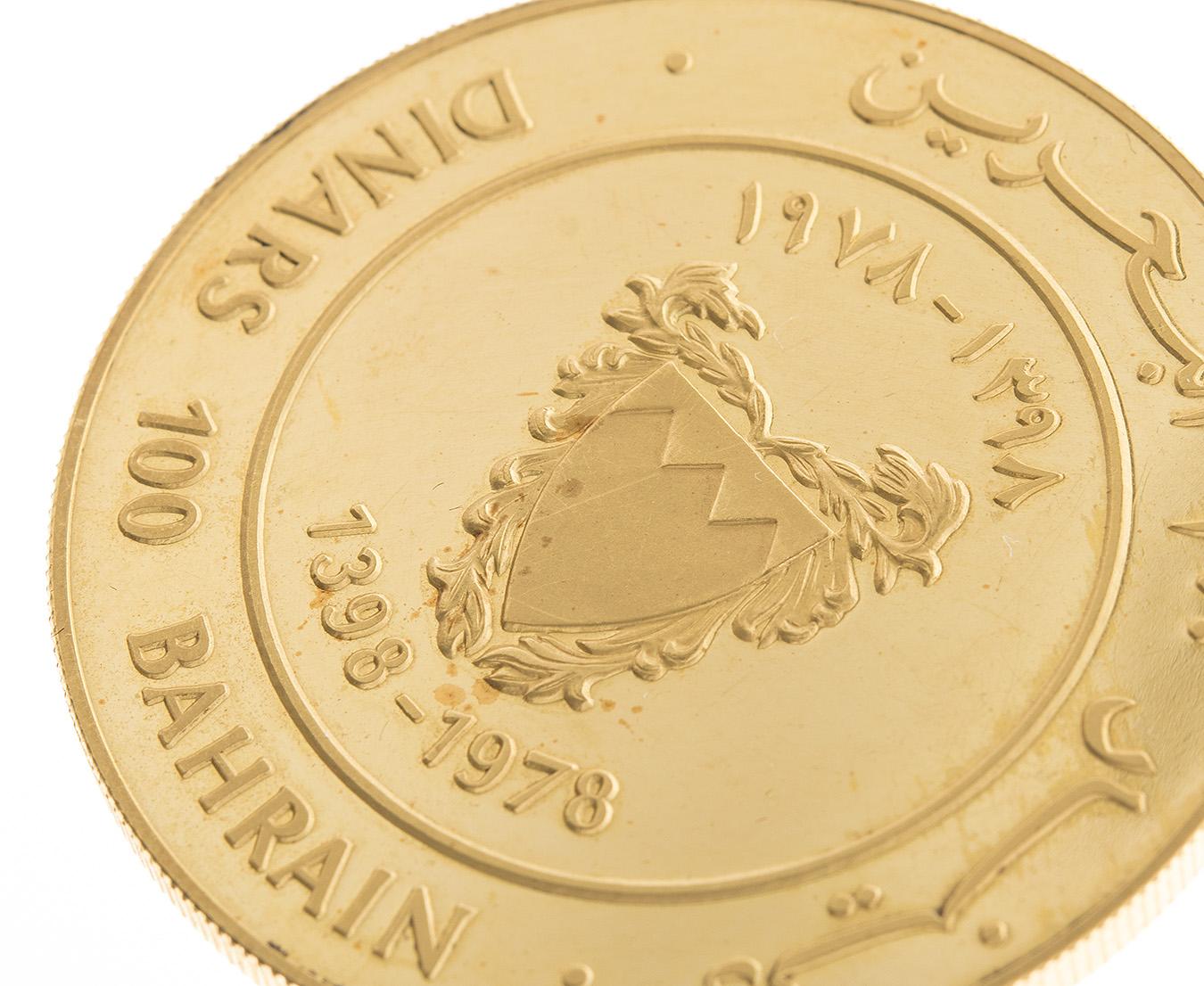 Bahrain 100 Dinars Gold Coin 1 466