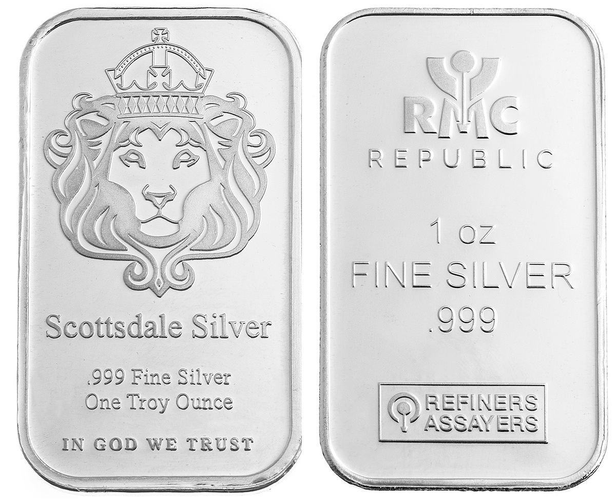 1oz Silver Best Value Bar 20 38
