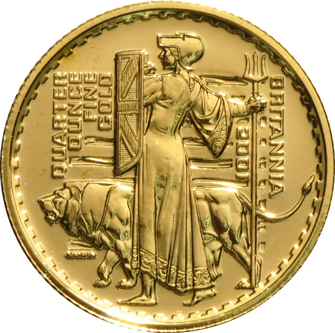 2001 Quarter Ounce Britannia Gold Coin 456