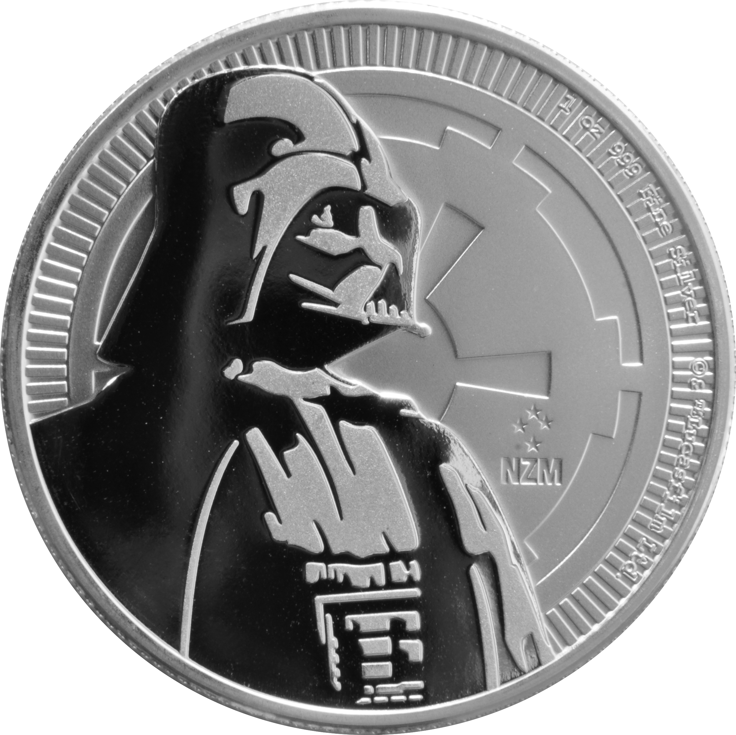 2017 Star Wars 1oz Silver Darth Vader Coin 22