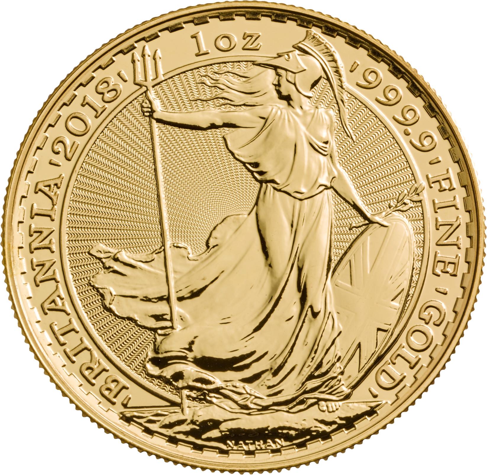 2018 Britannia One Ounce Gold Coin 1 351
