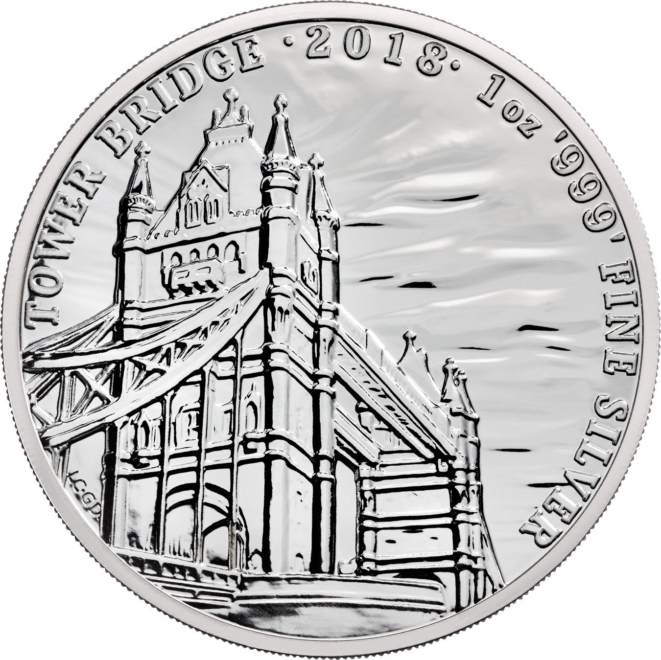 2018 Silver Tower Bridge 1oz Landmarks Of Britain 20 23